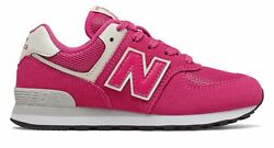 New Balance Kid#x27;s 574 Little Kids Female Shoes Pink with Off White $28.19