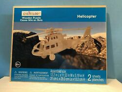 Helicopter Wooden 3D Puzzle By Creatology $6.95