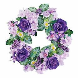 Beautiful Mixed Purple Flowers Floral Wreath $14.99