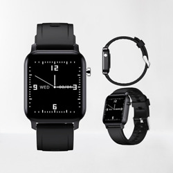 Watch Smart Band Waterproof for Android iOS Phone Mate Bluetooth Women Men BLACK $52.99