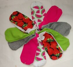 S4 10 Socks Fruits Red Strawberry Pink Women Athletic Casual Lw Cut No Show Shoe $5.99