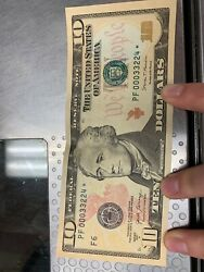 10 star note with repeat numbers in amazing condition $150.00
