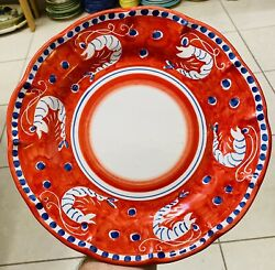 Vietri Pottery Campagna Style Pattern 10 Inch Plate Made Painted by hand Italy $26.99