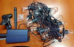 Brightech Ambience Pro Waterproof Solar Power Outdoor String Lights 48 Ft