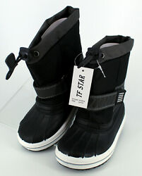 TF Star Boys Girls Ankle Winter Snow Boots Outdoor Waterproof Kids Size 9 10 $19.85
