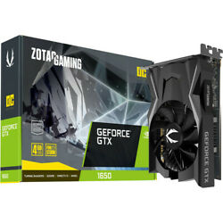 ZOTAC GAMING GeForce GTX 1650 OC GPU Video Graphics Card GDDR5 4GB NEW $279.95