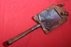 ORIGINAL WWI AUSTRIAN GERMAN FIELD TRENCH SHOVEL WITH FROG . MARKING . 1915 . $89.00