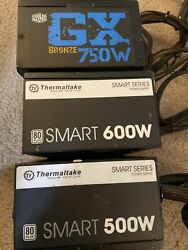 Cooler Master and Thermaltake Power Supply lot of 3 For Parts not functional $60.00