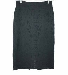Rebecca Taylor Black Lace Pencil Skirt Size: 6 $19.99