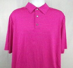FootJoy Golf Polo Men#x27;s Shirt Size XL Pink Striped $24.95