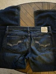 Big Star Womens Remy Low Rise Fit Straight Jeans Size 32 Reg Thick Stitch Blue $22.00