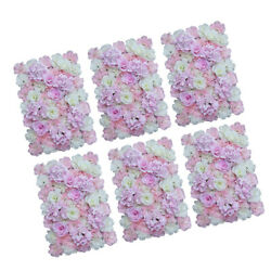 6x Flower Wall Panels Silk Flower Decor Floral Background Photography Props $109.43