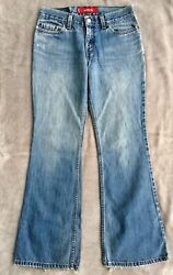 Levi#x27;s 514 Superlow Flare Jeans Size 5 JR. M. Great for Cutoffs $6.49