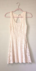 Free People Open Back Lace Dress Beige Size XS $19.99