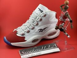 Iverson Reebok Question Mid Red Toe 25th Anniversary Style # FY1018 Size 10.5 BN $160.00