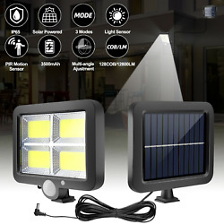 Outdoor Commercial 128000LM Solar Street Light IP65 Waterproof Dusk to Dawn Lamp