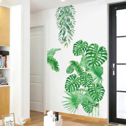 Tropical Foliage Leaves Plant Wall Sticker Vinyl Decal Nursery Home Mural Decor $9.00
