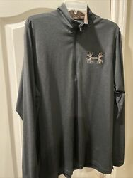 Under Armour Mens Borderland 1 4 Zip Antler Pullover Shirt. Gray Camo XL. $14.00