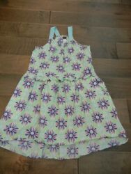 TEA COLLECTION pretty high low geometric dress Spring Summer 10 $14.99