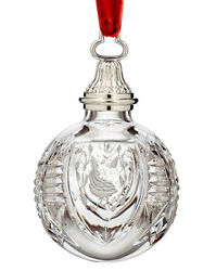 Waterford 12 Days crystal BALL Ornament Partridge 2010 NEW Boxed $74.99