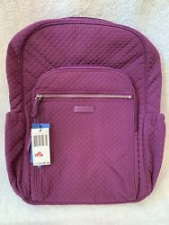 Vera Bradley Campus Backpack in Gloxinia Purple Microfiber NWT $75.00