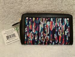 Vera Bradley Accordion Wallet in Streeterville Watercolor Brushstrokes NWT $40.00