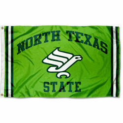 North Texas Mean Green Vintage Retro Throwback Large Outdoor Flag