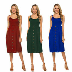 Beach Women Dress Short Strappy Holiday Sun Dresses Summer Pleated Casual Hot $20.24