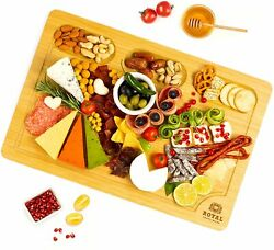 Extra Large Bamboo Cutting Board Cheese and Charcuterie Board Serving Tray with $19.98