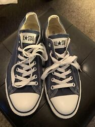 Converse All Star Mens Size 9 Low Top Chuck Taylor White Blue Women's 11 $14.00