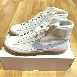 Nike iD Blazer Hi Premium Leather Size 12 Mens White Blue Gum New $119.99