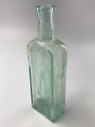 Clear Green Glass Antique Bottle Vase Container $14.99