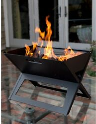 Folding Portable Outdoor Camping Cooking Kitchen Charcoal Grill Burner Black $36.99