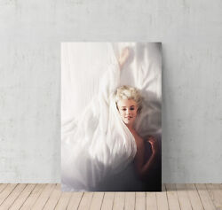 Marilyn Monroe Canvas Print Decorative Modern Wall Art in the Bed $19.99
