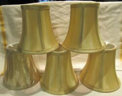 Urbanest Mini Satin Hardback Chandelier Lamp Shades Clip On Set 5   6quot; Tall $18.00