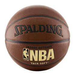 Spalding NBA Tack Soft Indoor Outdoor Basketball Official Size 7 29.5quot; Brown $35.16