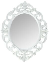 Kole Imports Oval Vintage Wall Mirror White 11.5 x 15 Inch 1 $14.28