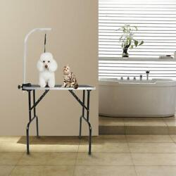 32quot; Small Pet Grooming Table Dog Cat Adjustable Tables Weight Capacity 220 lbs $57.89