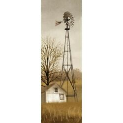 New Primitive Rustic Billy Jacobs COUNTRY WIND MILL Barn Wall Hanging Picture $12.99