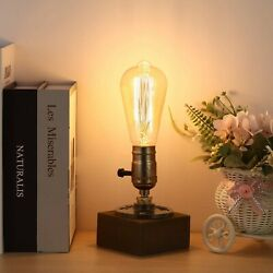 Retro Table Lamp Base Vintage Desk Lamp Small Industrial Light Steampunk Lam... $19.32