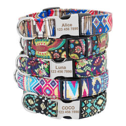 Soft Nylon Dog Personalized Collar Name Number Engraved Free for Small Large Dog $9.99