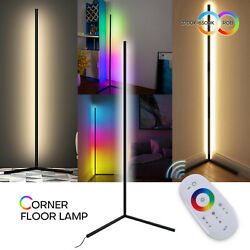 Corner Floor Lamp Color Changing Dimmable LED Night Light Standing Bedroom Decor $88.89