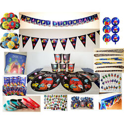 AMONG US Balloons Birthday Party Supplies Napkins Cups Plates Napkins Goody Bags $6.99