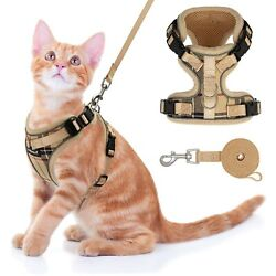 Cat Harness and Leash Set Escape Proof Adjustable Puppy Harness for Outdoor... $13.26