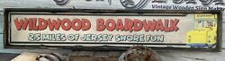 Antique Rustic Style Wildwood Boardwalk Tram Car Wooden Sign Display 6x48 $79.00