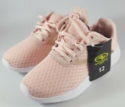 Athletic Works Girls Youth Pink Blush Mesh Jogger Shoes Size 12 or 13 Lace Up $5.99