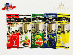 NEW 10X KING PALM WRAPS VARIETY PACK REAL LEAF ROLLS MINI SIZE 5 PACKS $18.99