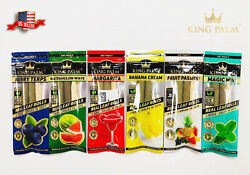 NEW 12X KING PALM WRAPS VARIETY PACK REAL LEAF ROLLS MINI SIZE 6 PACKS $22.75