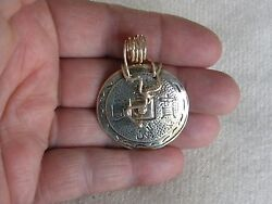 STERLING SILVER CONTEMPORARY PENDANT TMARRA DESIGNS SIGNED 1 3 4quot; $29.00