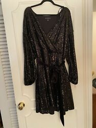 Eloquii Size 26 Black Sequin Dress